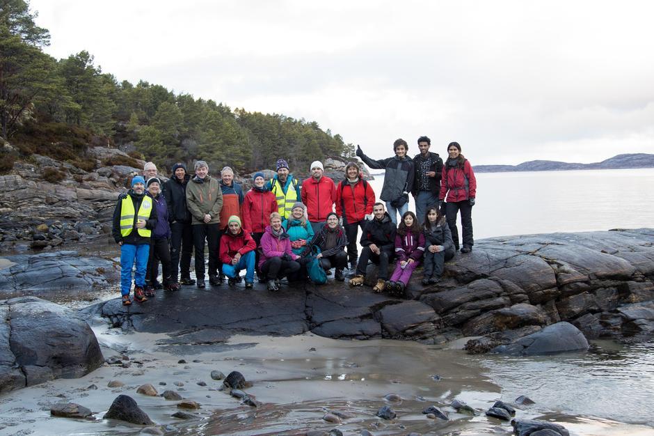 Turgruppa på fellestur på Sandvikstien i Kristiansund