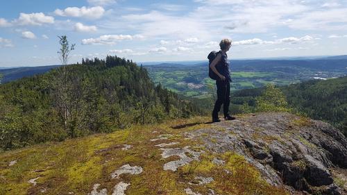 Fra Storkollen med Asker og Oslofjorden i det fjerne