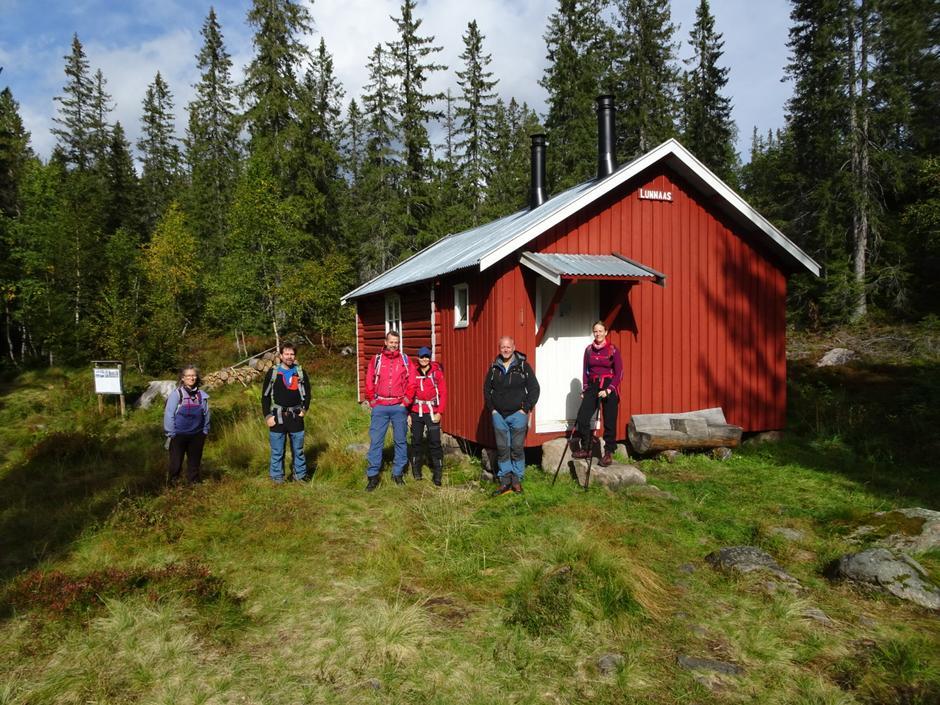 Deltakerne ved Lundåshytta.