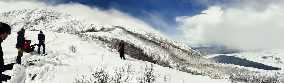 Wardruna på opptak til låta Lufjaberg (Healing-mountain).