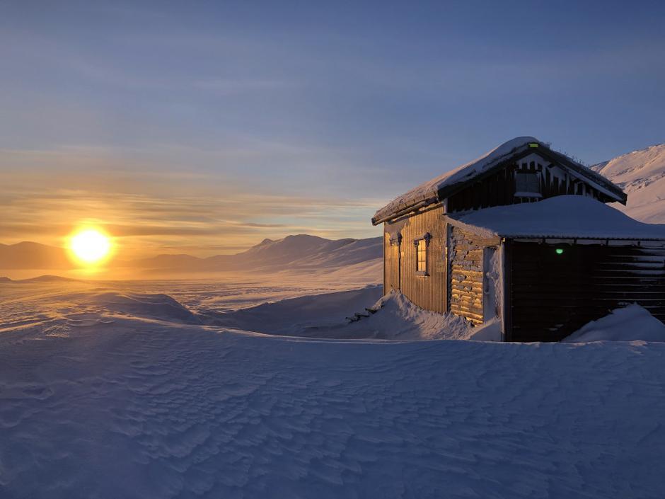 Midtistua på Saltfjellet