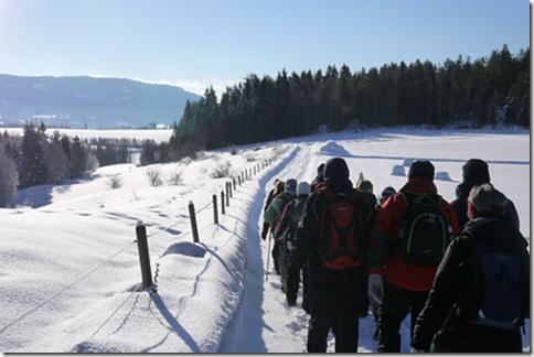 Ut på tur Modum og Sigdal på tur langs vintervei.