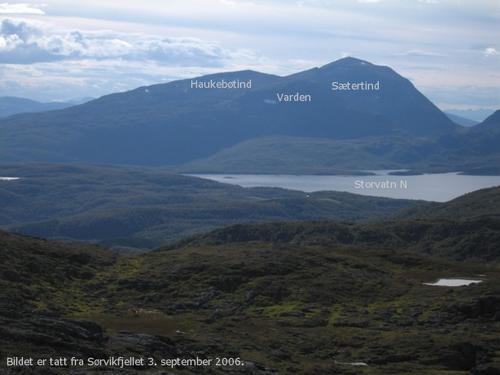 Utsikt fra Sørvikfjellet
