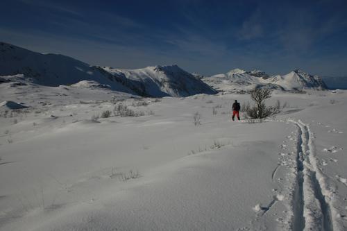 Skitur på Vestvågøy