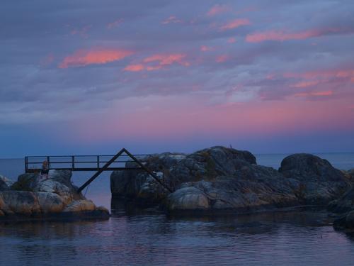 Kveldstur på Hydrostranda ved Langesund-