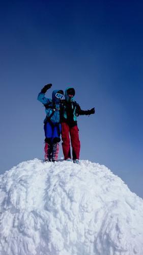 Mor og son på toppen
