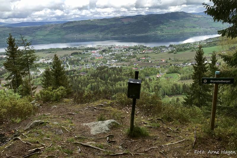 Utsikt fra Brynstadberget på Biri