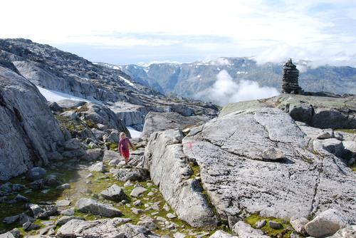 Gunhild på veg mot Breidablikk
