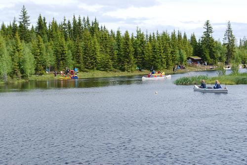 Kanopadling på Finn fram-dagen på Vollkoia