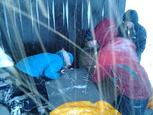 Snøføyke gjorde øvelsene realistiske