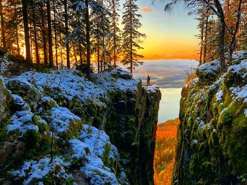 Mørkgonga i solnedgang. En helt nydelig tur med fantastisk utsikt!