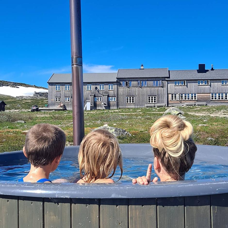 Badestampen ved Krækkja på Hardangervidda.