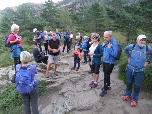 Seniorgruppa på Lyderhorn 2. september