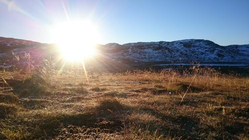 Flott soloppgang tidlig en morgen i oktober.