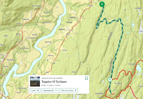 Ukas tur (19) - Topptur til Tyriåsen