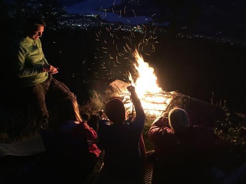 Balbergkampen Lillehammer. Natt i naturen.