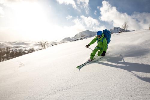 Vi kjører ned der skiføret er best!