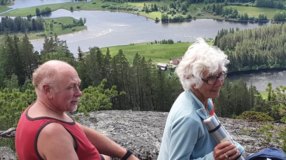 Vebjørn og Anne Marit på Puttekollen.