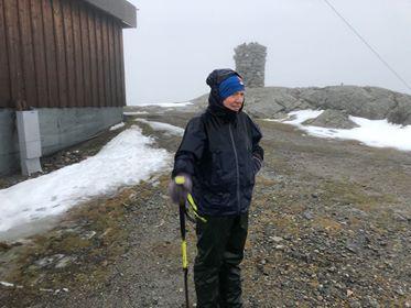 IST-leiar Kjell-Arne Hjellbrekke var ein av få som tok turen til Hafstadfjellet på nyttårsafta.