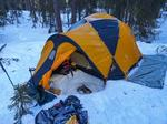 23. mars hadde DNT Ung overnattingstur til Skåleberget med truger og telt