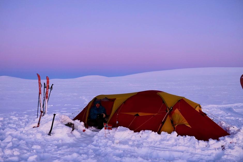 Vintertelting kan by på mange fine naturopplevelser.