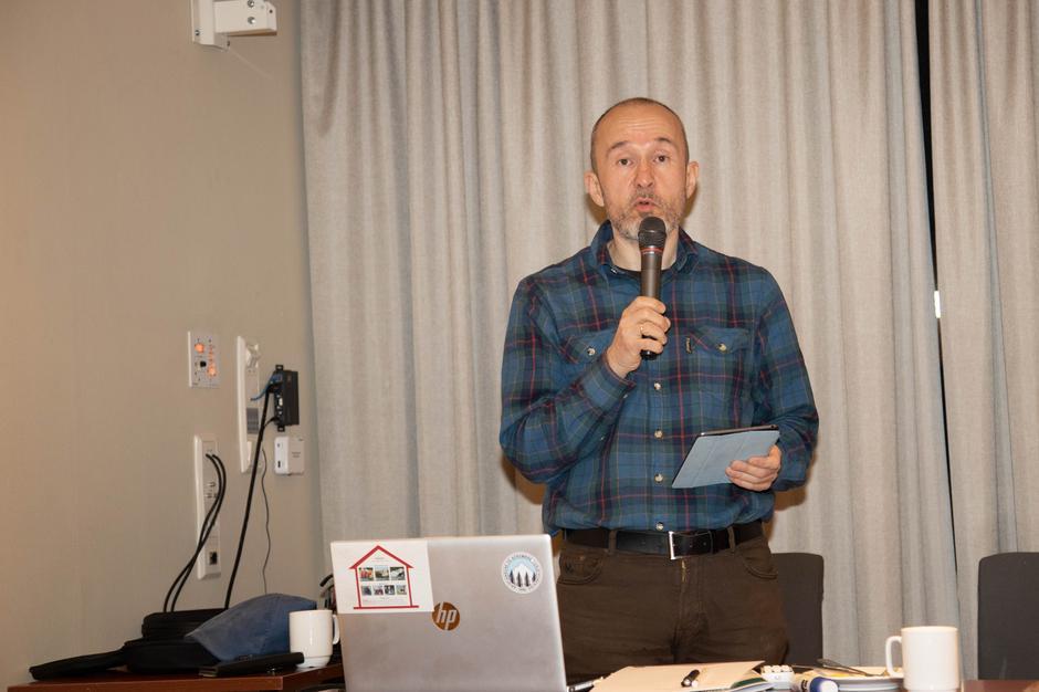 Ny daglig leder. Roar Halten presenterte seg for årsmøtet.