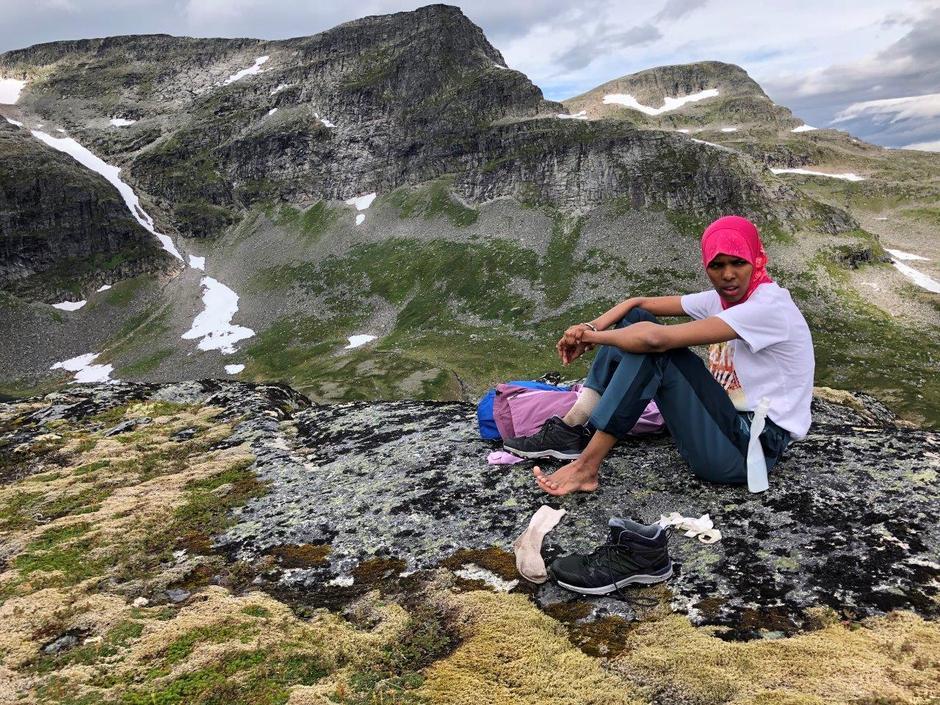 Fra toppen av Pekhøtta og Fruhøtta.