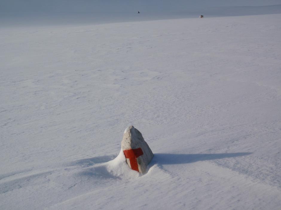Rondane, herlig, frisk toppturhelg i februar, her på merket rute på vei til Ljosåbelgen