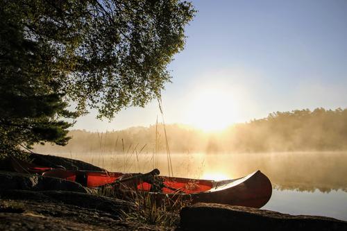 Tidlig morgen på Storavatnet, Tysvær. På kanotur sammen med en god venn fra fredag til søndag.