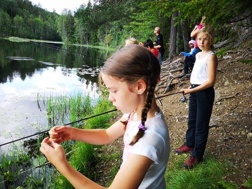 Fiske i Drengsrudvann, Friluftsskolen i 2019