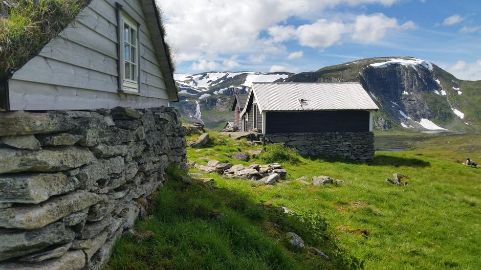 Vatnane. Utsikt mot Svartavatnet og Vatnavatni