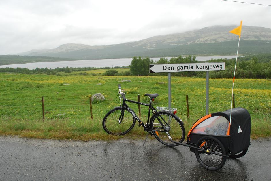 Det er fine sykkelveier innover i Grimsdalen.