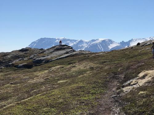 På vei mot toppen på Stangheia