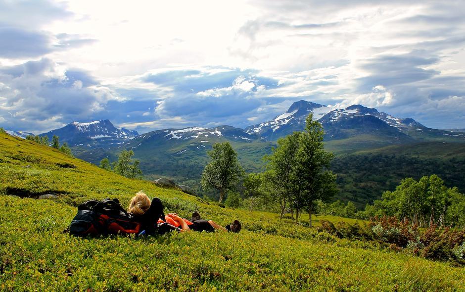 Beinstrekk med utsikt i Trollheimen.