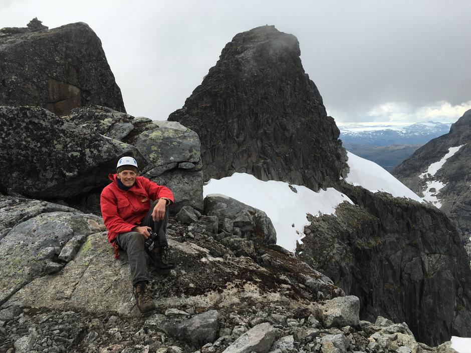 Erik Solheim, forfattar og fjellførar.