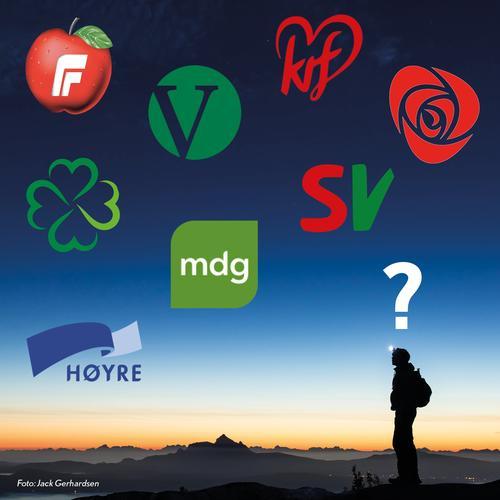 DNTs partitest - hva mener partiene om friluftsliv?