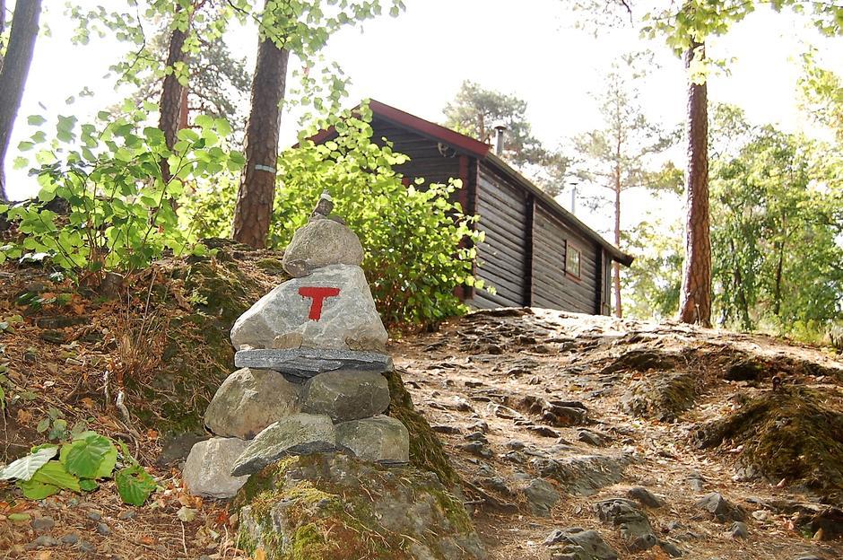 Gå en liten fjelltur på Norsk Folkemuseum! Det er godt merket opp til hytta.