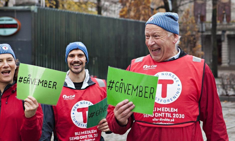 NY KAMPANJE: #gåvember er ei oppfordring frå DNT til deg om å gå til jobben i november.