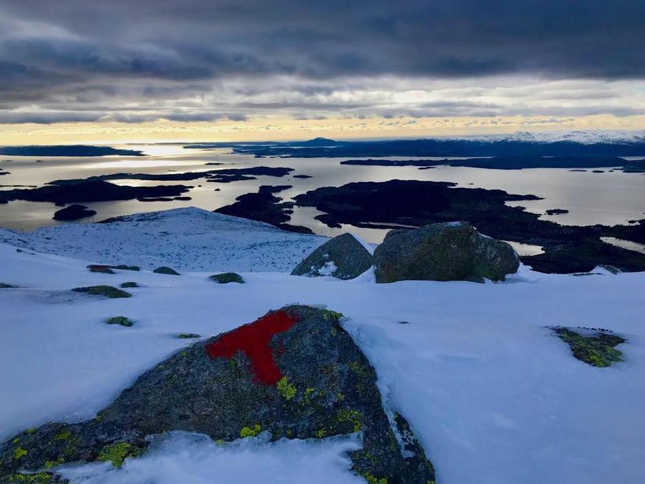 Utsikt frå Mjelkhaug mot Nordfjell og Sunnhordland.