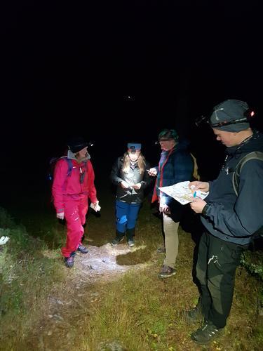 25. oktober var det nattorientering i Vestre Slidre