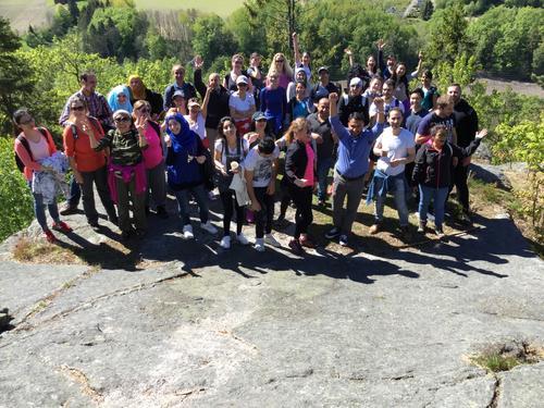 På tur i Hjertås med studenter fra Fønix