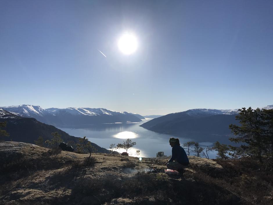 Flott på Brandholten i Vik kommune .