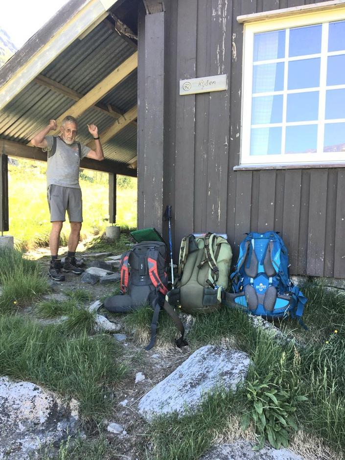 Finn Granum var glad da vi endelig nådde Kljåen.