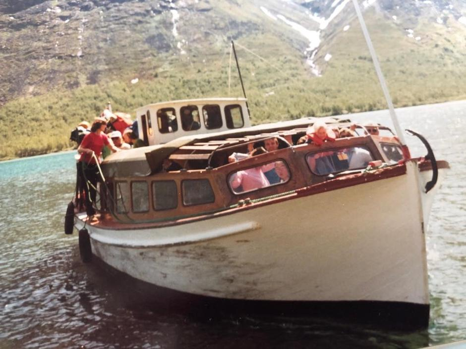 Siste tur på Gjende med gamlebåten i juni 1982.