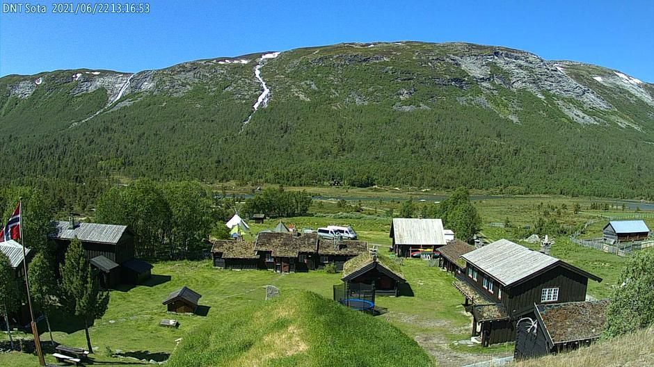 Webkamera ved Sota Sæter 22. juni 2021.