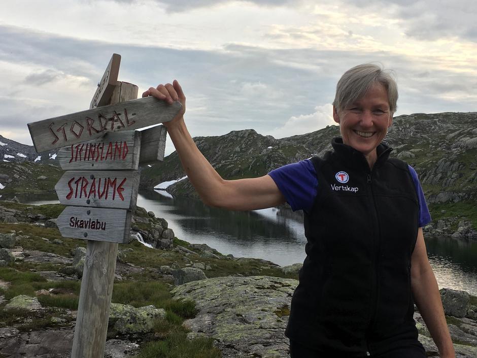 Leiar for hyttetilsynet ved Vardadalsbu turisthytte - vest i Stølsheimen - Kari Sauer