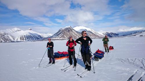 Skiekspedisjon på Svalbard