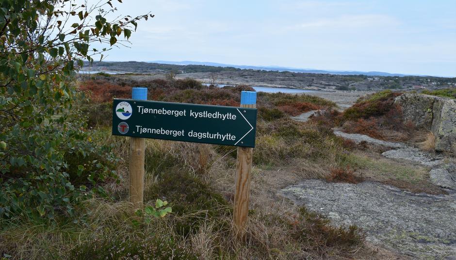 God merket fra Krøkla til Tjønneberget, over fjellet.