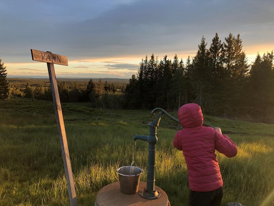 Vannpumping på Hedmarksvidda