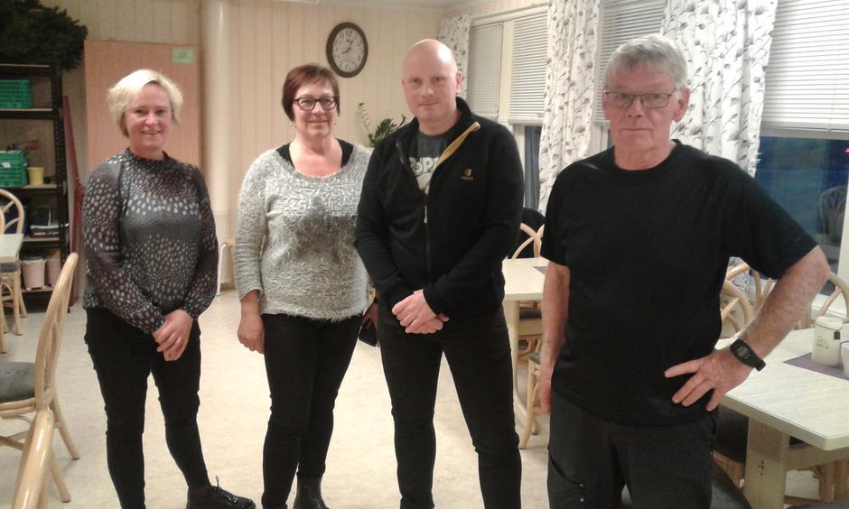 Det nye styret er klar til innsats. Fra venstre Ann-Mari G Lund, Ingeborg Knutsdatter Gresaker, Daniel Nordmeland og Atle Forbord.